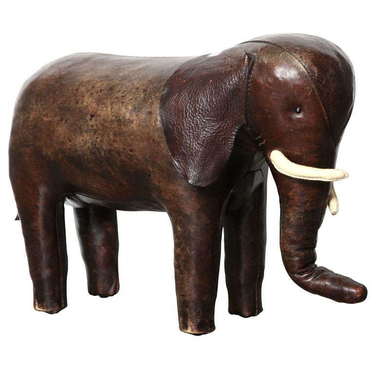 Abercrombie And Fitch Co Leather Elephant Ottoman At 1stdibs