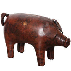 Abercrombie & Fitch Co. Leather Piggy Ottoman