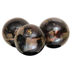 Three Beautiful Wordly Murano Glass Balls
