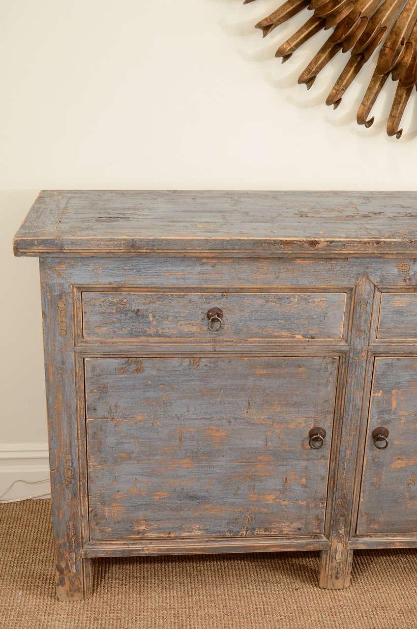 Blue painted elm sideboard at 1stdibs for Sideboard 220 cm