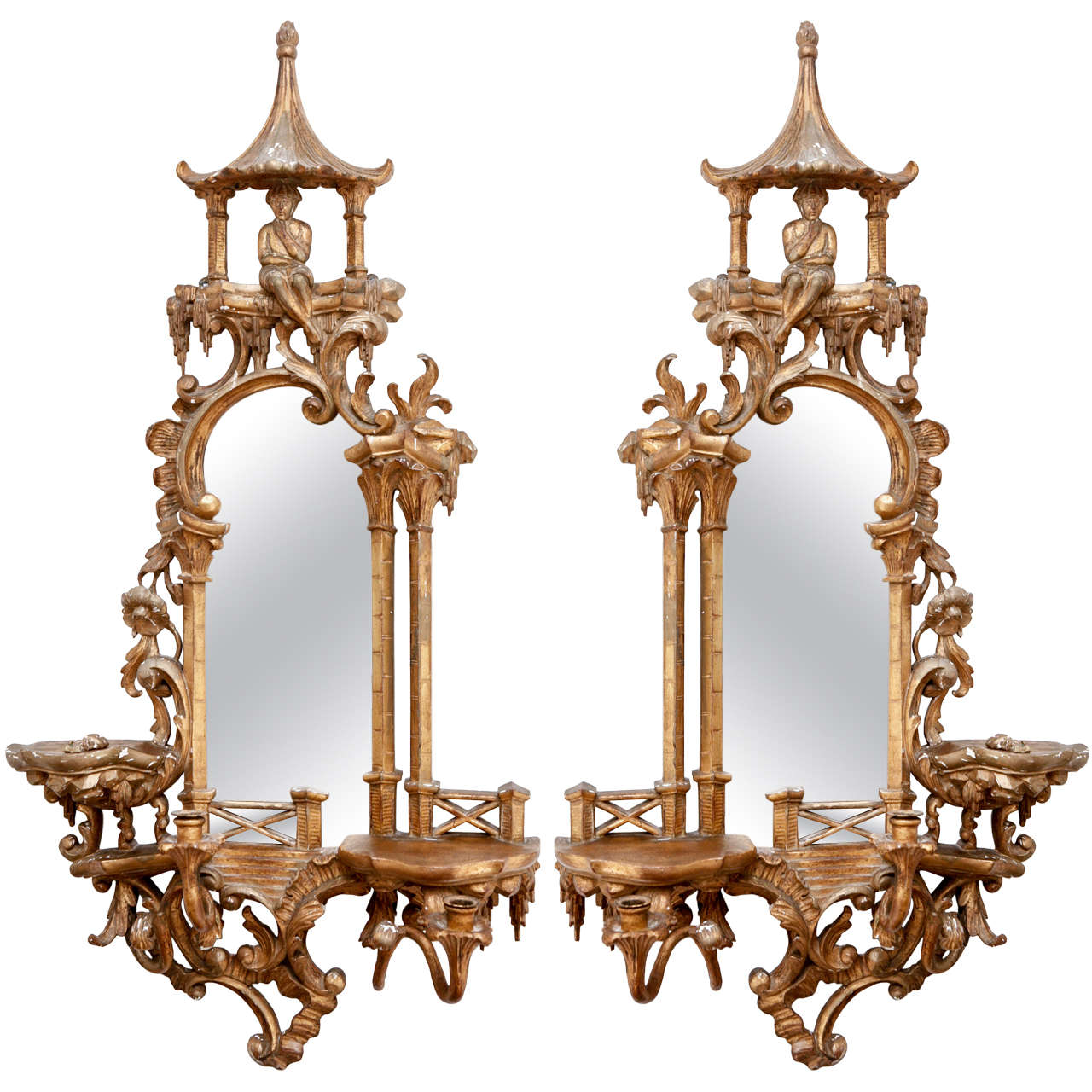 Pair of 19th c chinoiserie mirrors for sale at 1stdibs for Mirrors for sale