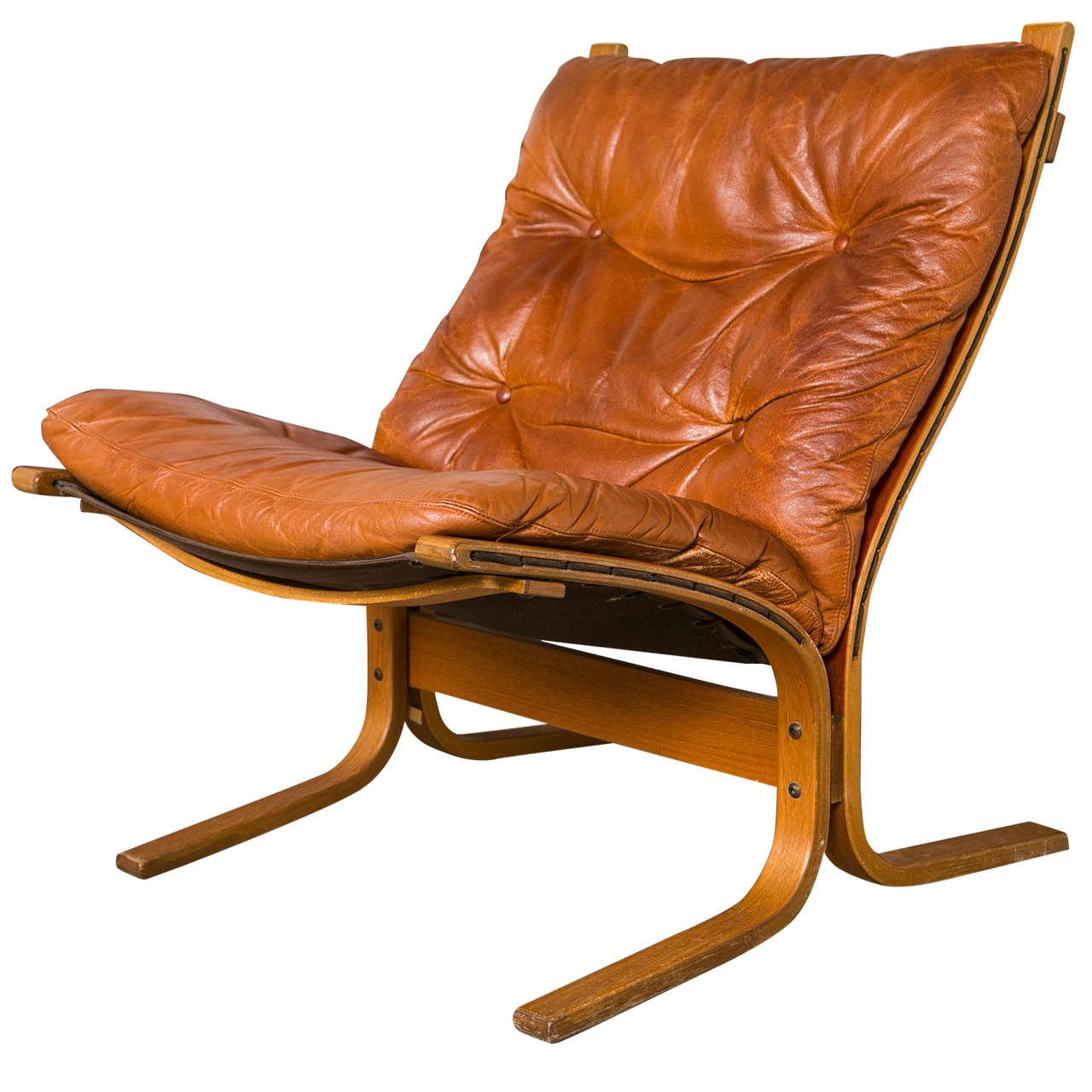 Ingmar Relling Leather Siesta Chair At 1stdibs