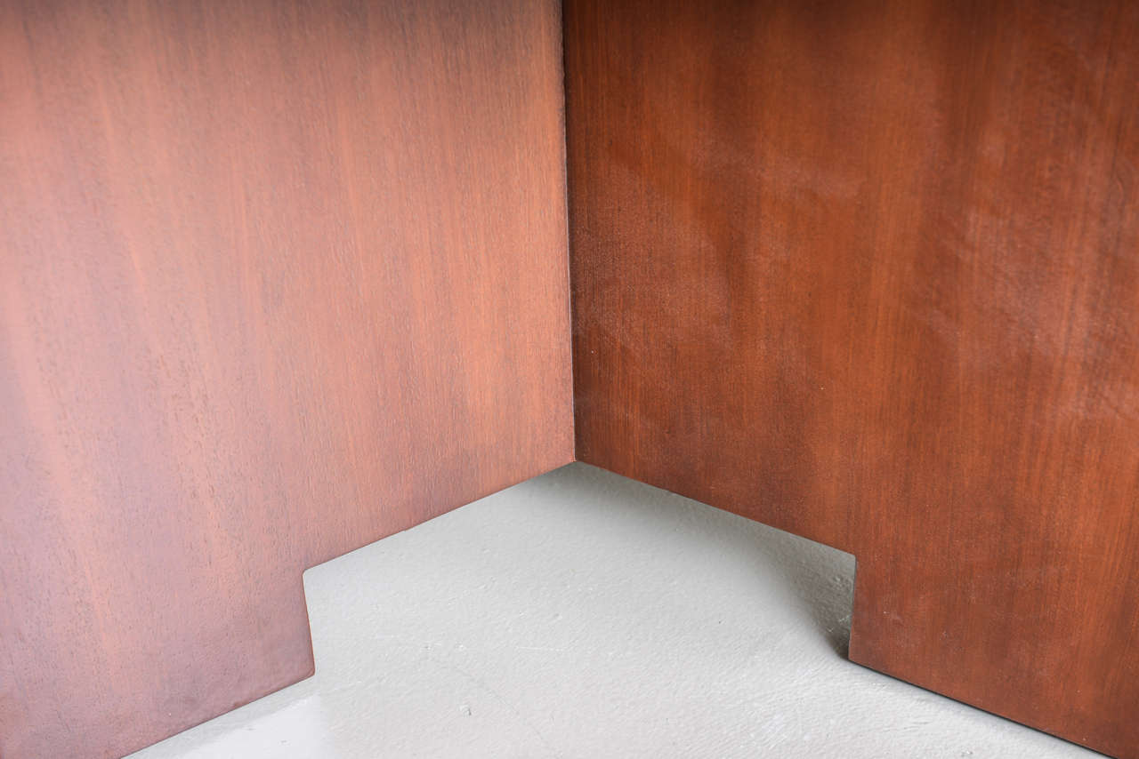 Frank Lloyd Wright Mahogany Extension Dining Table For Sale 2