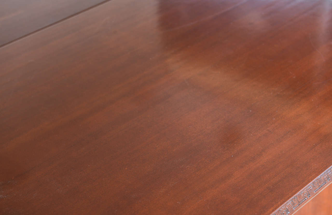 Frank Lloyd Wright Mahogany Extension Dining Table For Sale 3