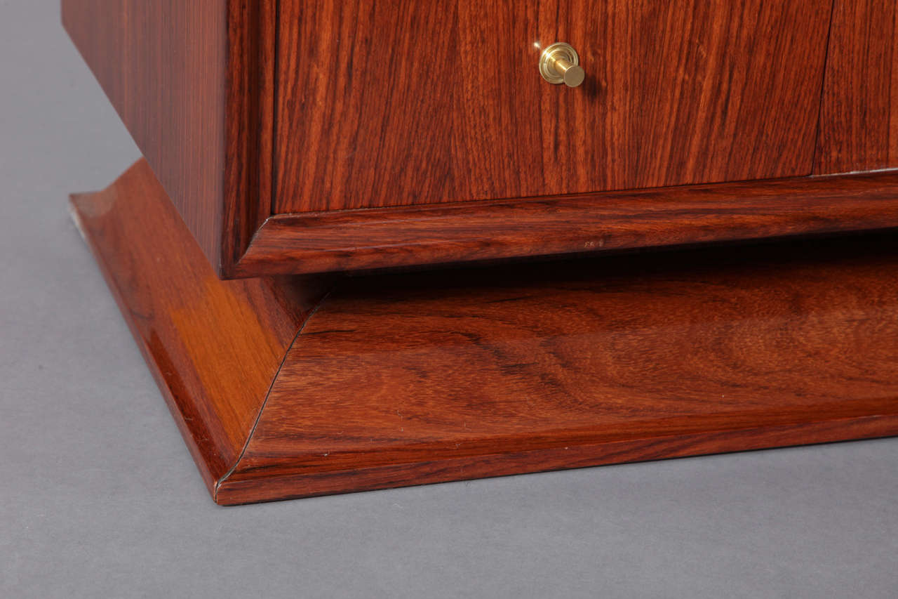 Rosewood Bar Cabinet Coffee Table, France, 1930s 6