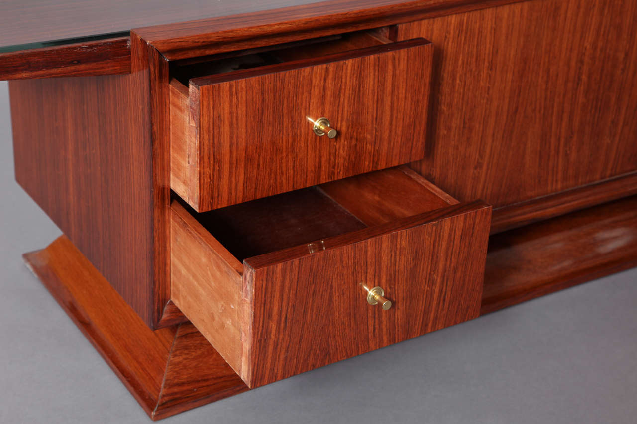 Rosewood Bar Cabinet Coffee Table, France, 1930s 8