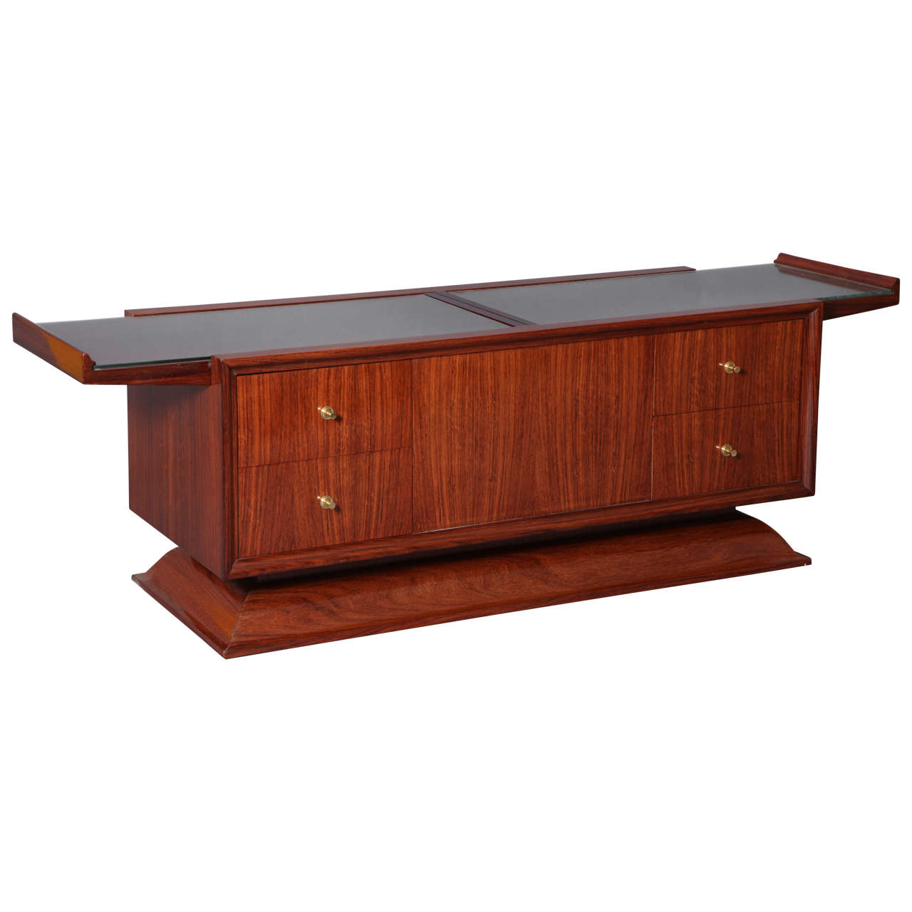 Rosewood Bar Cabinet Coffee Table, France, 1930s 1