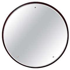 Burl wood Round Mirror