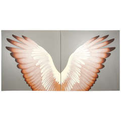 Double Wings - A Pair Of Paintings By Lynn Curlee