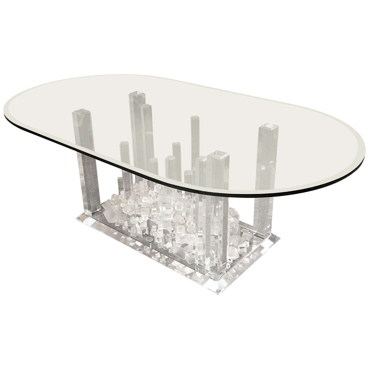 Stunning Lucite Dining Table at 1stdibs