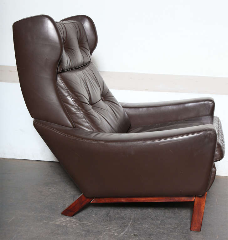 unique image of brown leather wingback chair