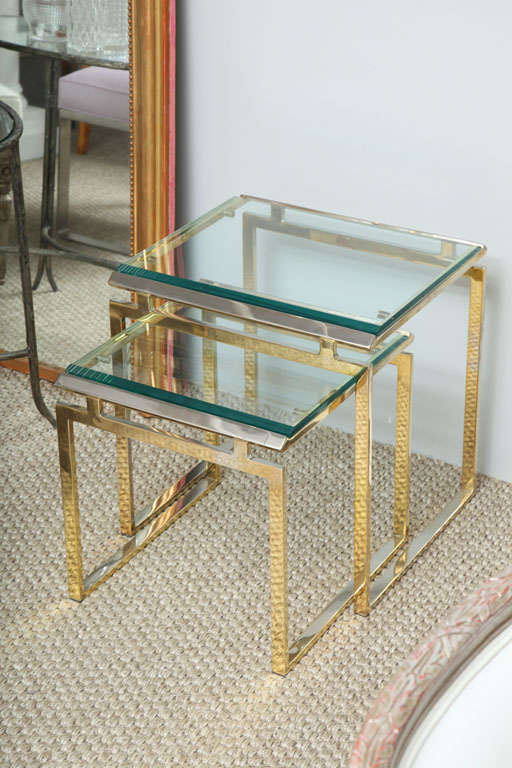 American Br And Gl Nesting Tables For