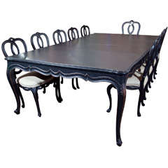 Louis XV Style Maison Jansen Dining Room Table and Chairs