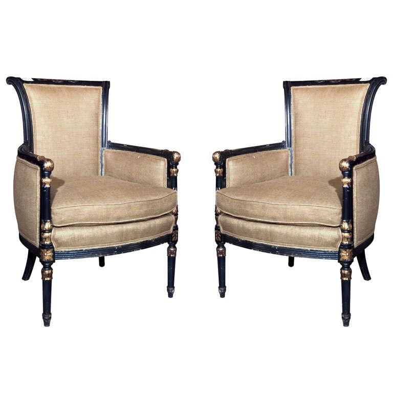 Pair or Maison Jansen Armchairs