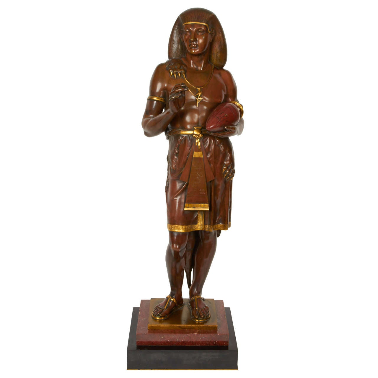 Emile Louis Picault, Bronze Figure of an Egyptian Scribe