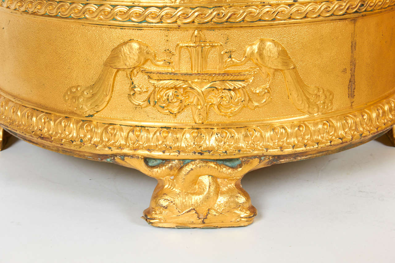 Gold Pair of Elkington & Co Gilt Bronze Neoclassical Jardiniere/Champagne Ice Buckets For Sale