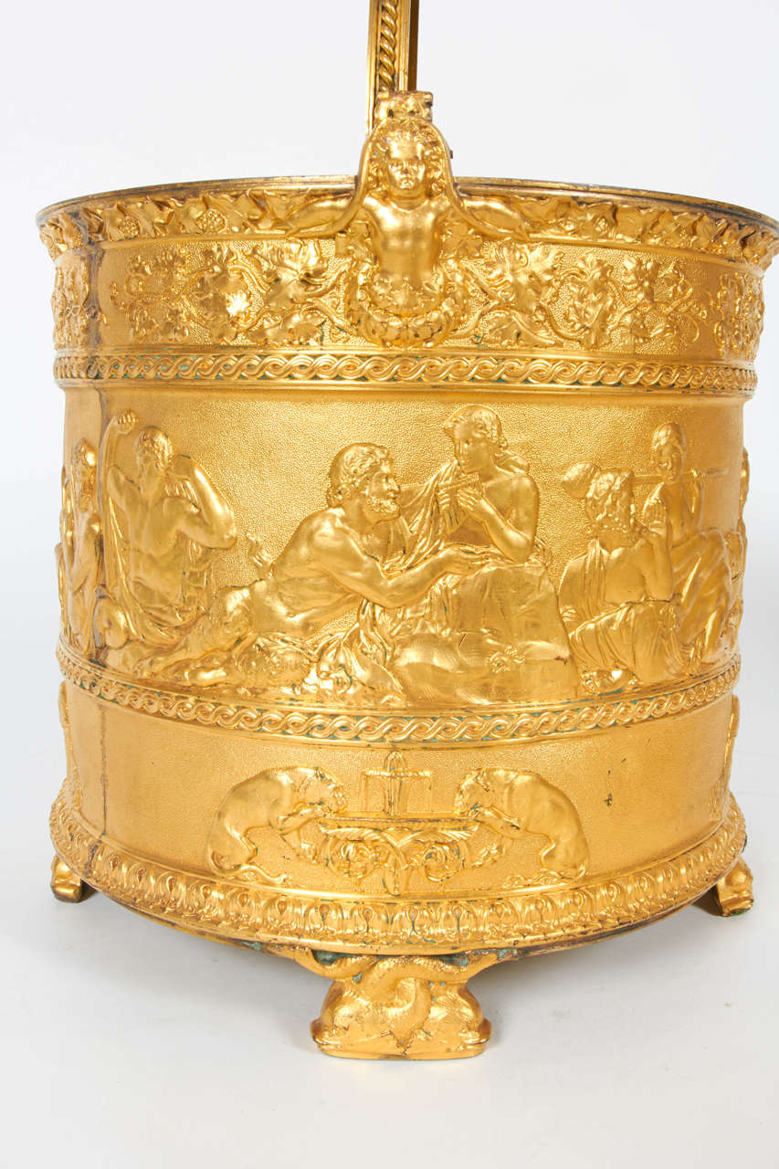 Pair of Elkington & Co Gilt Bronze Neoclassical Jardiniere/Champagne Ice Buckets For Sale 2