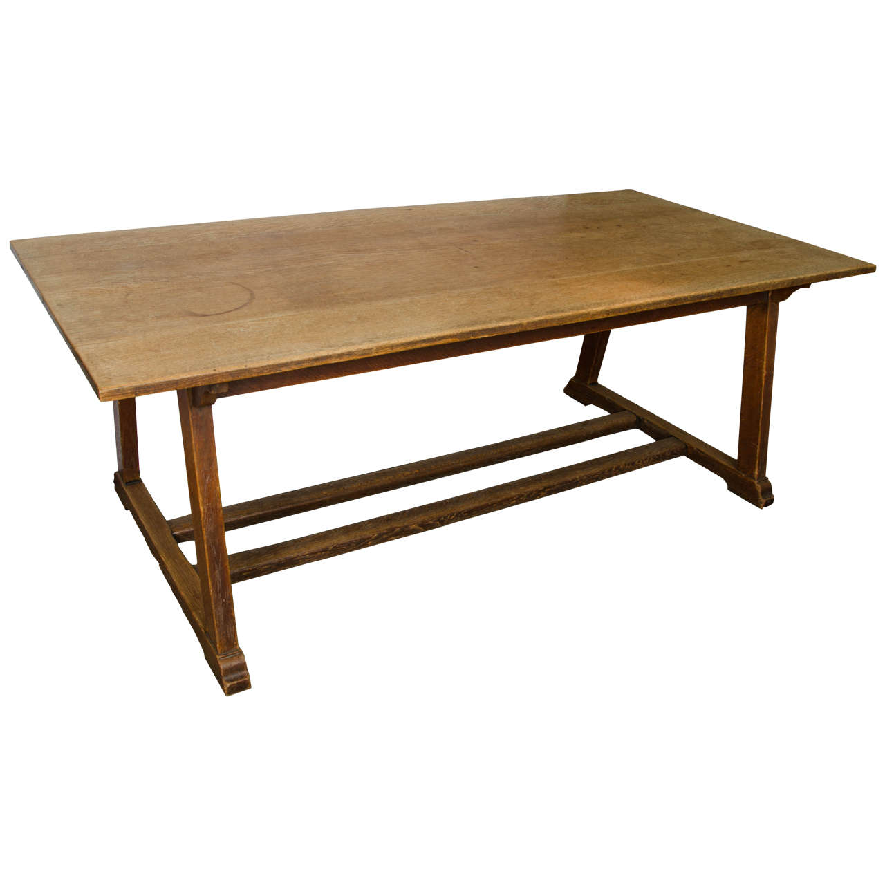 Oak arts and crafts rectangular dining table at 1stdibs for Oak dining room table