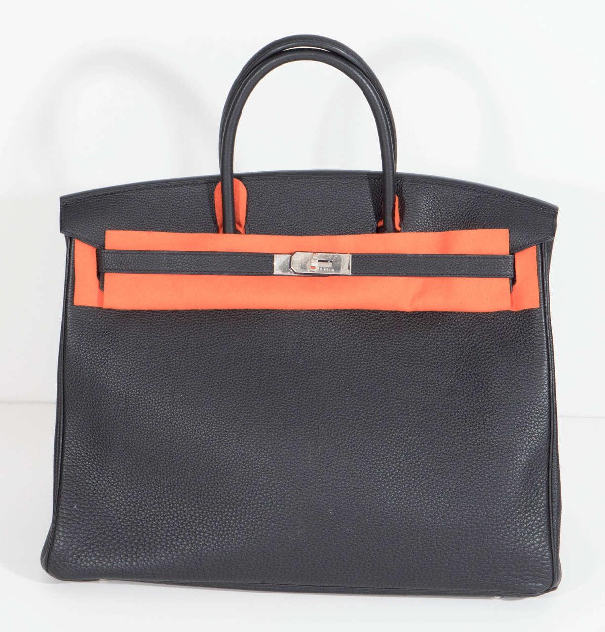 Hermès Paris Birkin Bag 40 in Togo Leather with Palladium Hardware, 2008 2