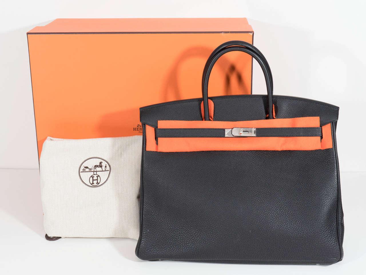 Hermès Paris Birkin Bag 40 in Togo Leather with Palladium Hardware, 2008 3