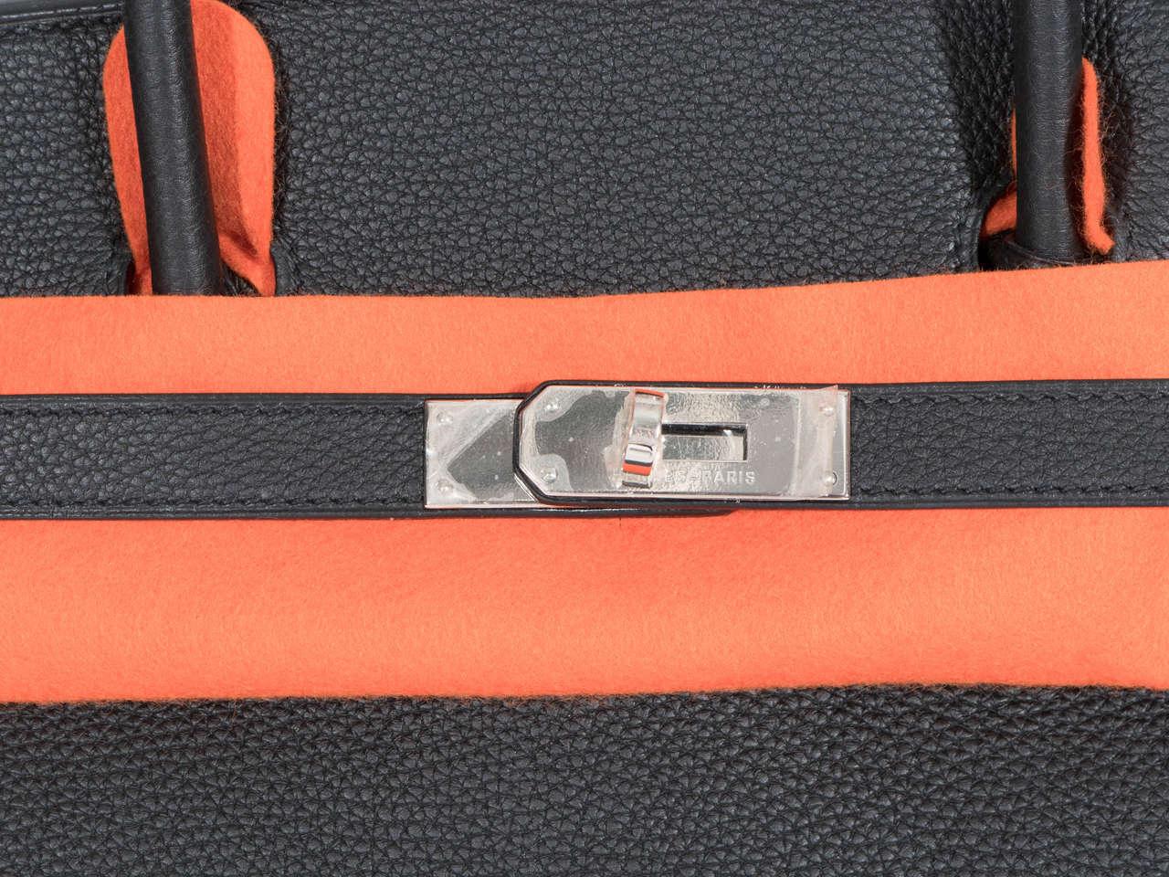 Hermès Paris Birkin Bag 40 in Togo Leather with Palladium Hardware, 2008 4