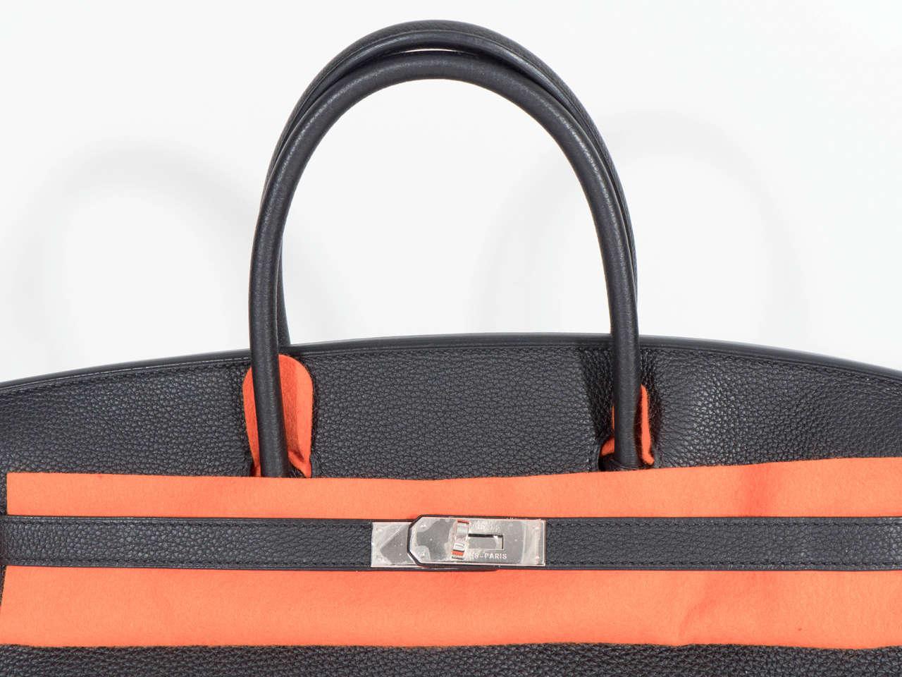Hermès Paris Birkin Bag 40 in Togo Leather with Palladium Hardware, 2008 5