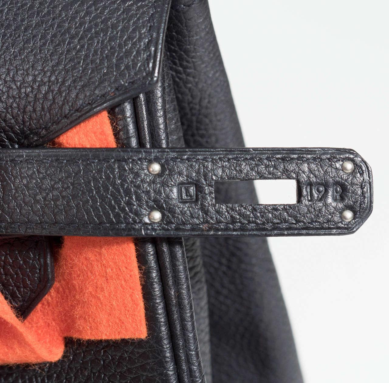 Hermès Paris Birkin Bag 40 in Togo Leather with Palladium Hardware, 2008 6