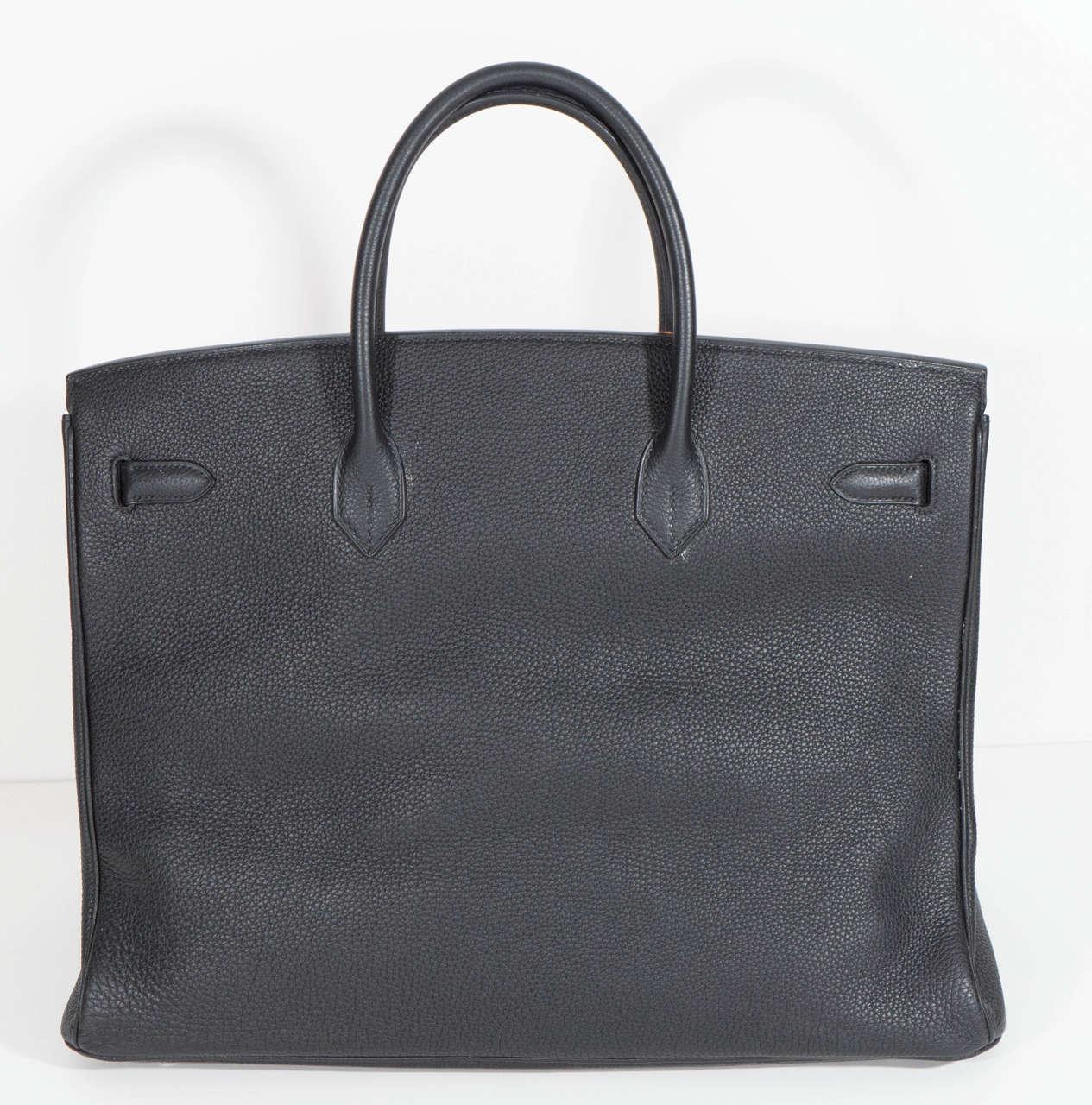 Hermès Paris Birkin Bag 40 in Togo Leather with Palladium Hardware, 2008 8