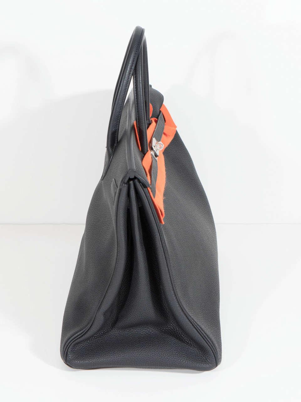 Hermès Paris Birkin Bag 40 in Togo Leather with Palladium Hardware, 2008 9