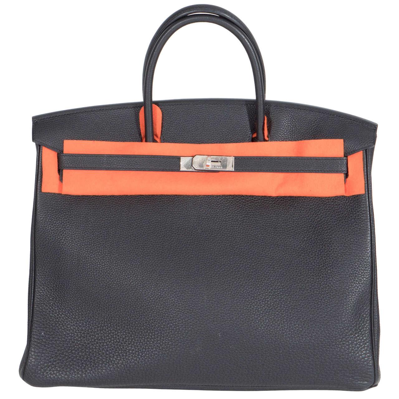 Hermès Paris Birkin Bag 40 in Togo Leather with Palladium Hardware, 2008 1