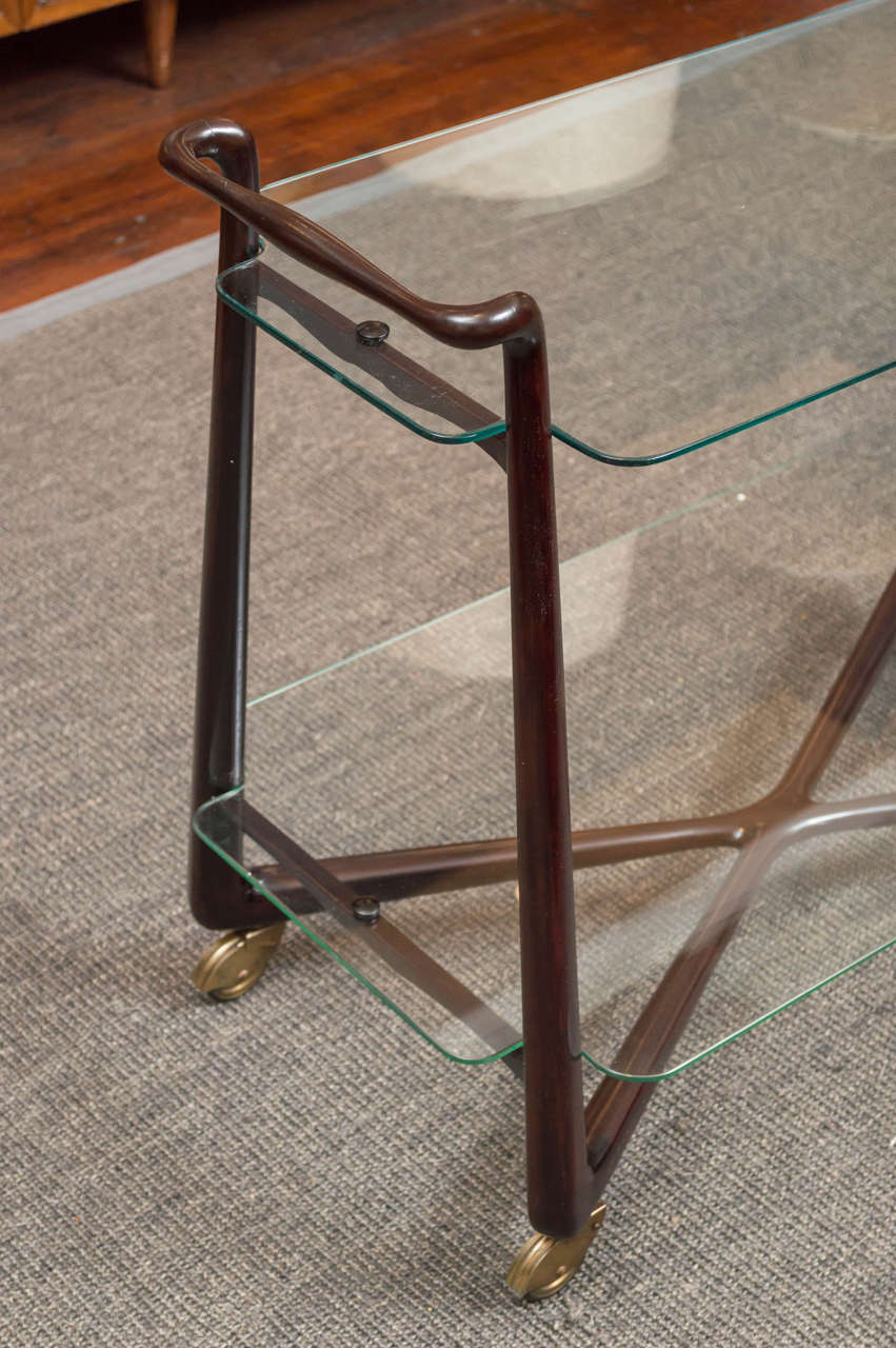 Italian Bar Cart In Excellent Condition For Sale In San Francisco, CA