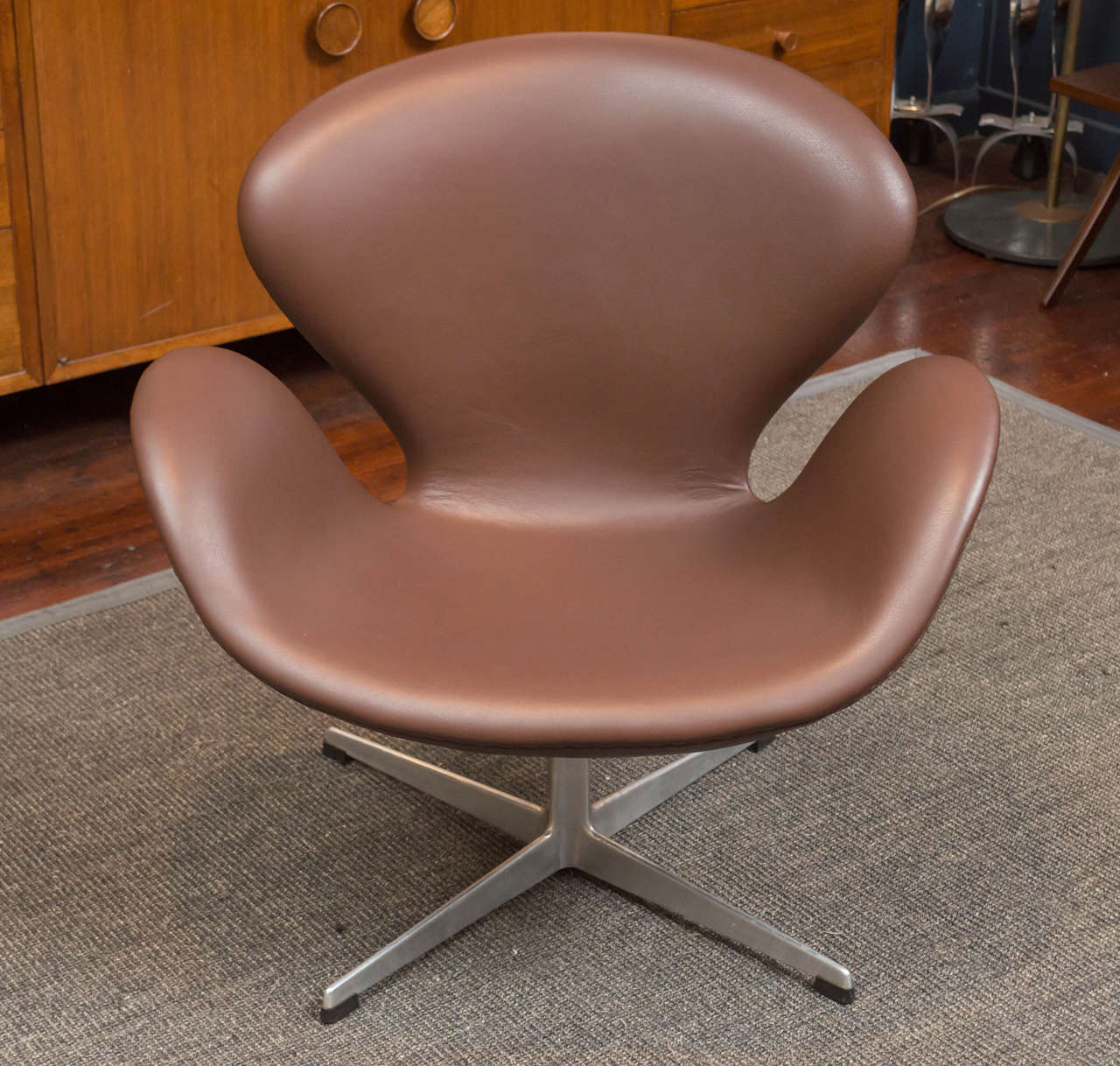 "Arne Jacobsen design ""Swan"" chair for Fritz Hansen, Denmark.