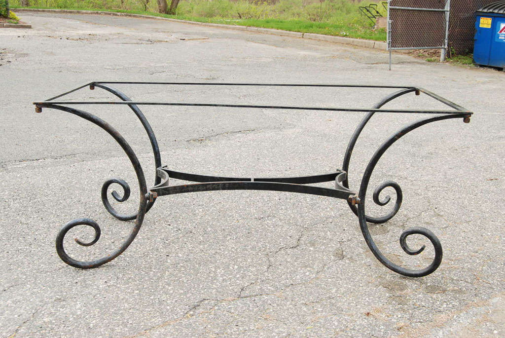 Vintage Metal Dining Table Base At 1stdibs
