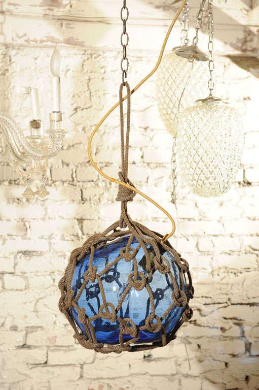 Antique Japanese Fishing Float Pendant Light 3