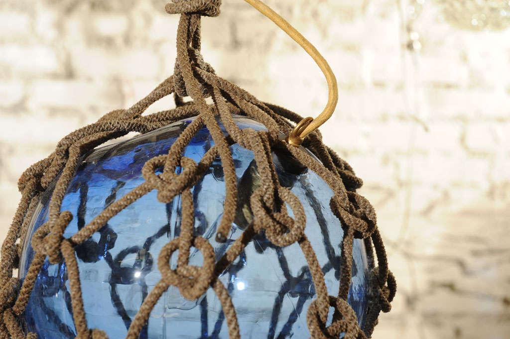 Antique Japanese Fishing Float Pendant Light 5