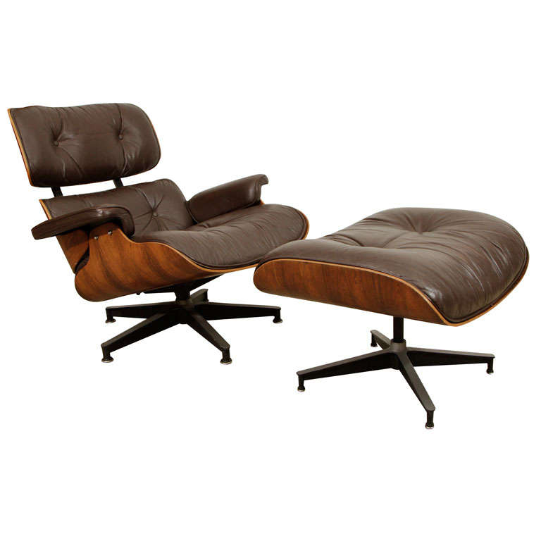 HERMAN MILLER EAMES LOUNGE CHAIR 670 OTTOMAN 671 at 1stdibs