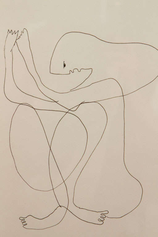 Anthony Quinn Untitled Original Pen and Ink on Paper, 1970 2