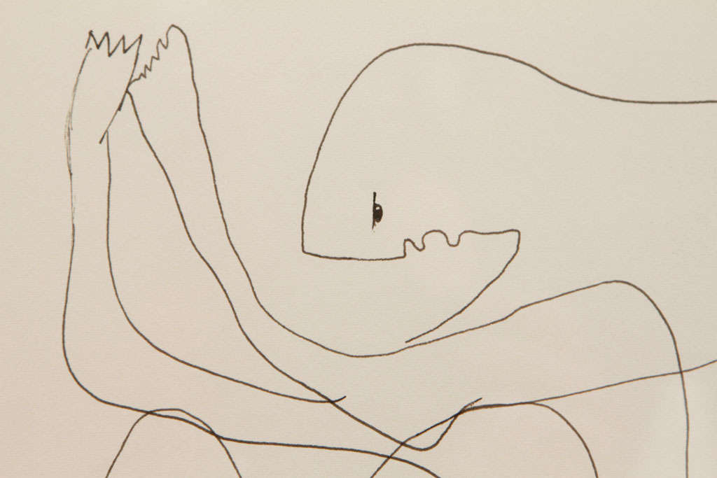 Anthony Quinn Untitled Original Pen and Ink on Paper, 1970 3