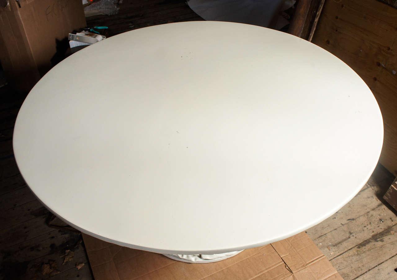 Richard Himmel 'Gathered Drapery' Round Dining or Large Center Table, c. 1965 image 3