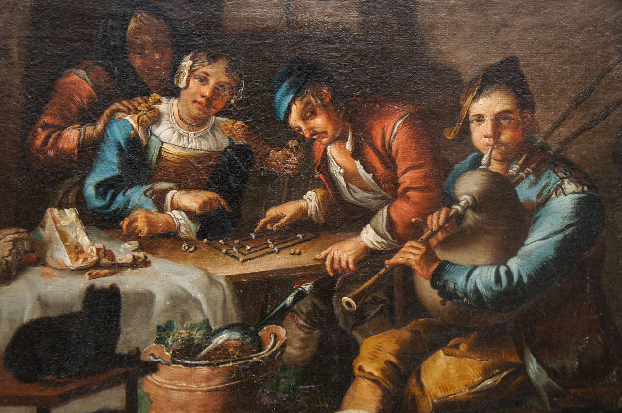 Baroque Dutch or Flemish Genre Painting, circle of Adriaen Brouwer, circa 1620