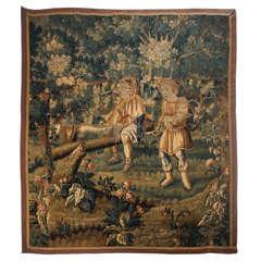 Rare Subject Flemish Verdure Wall Tapestry, circa 1640