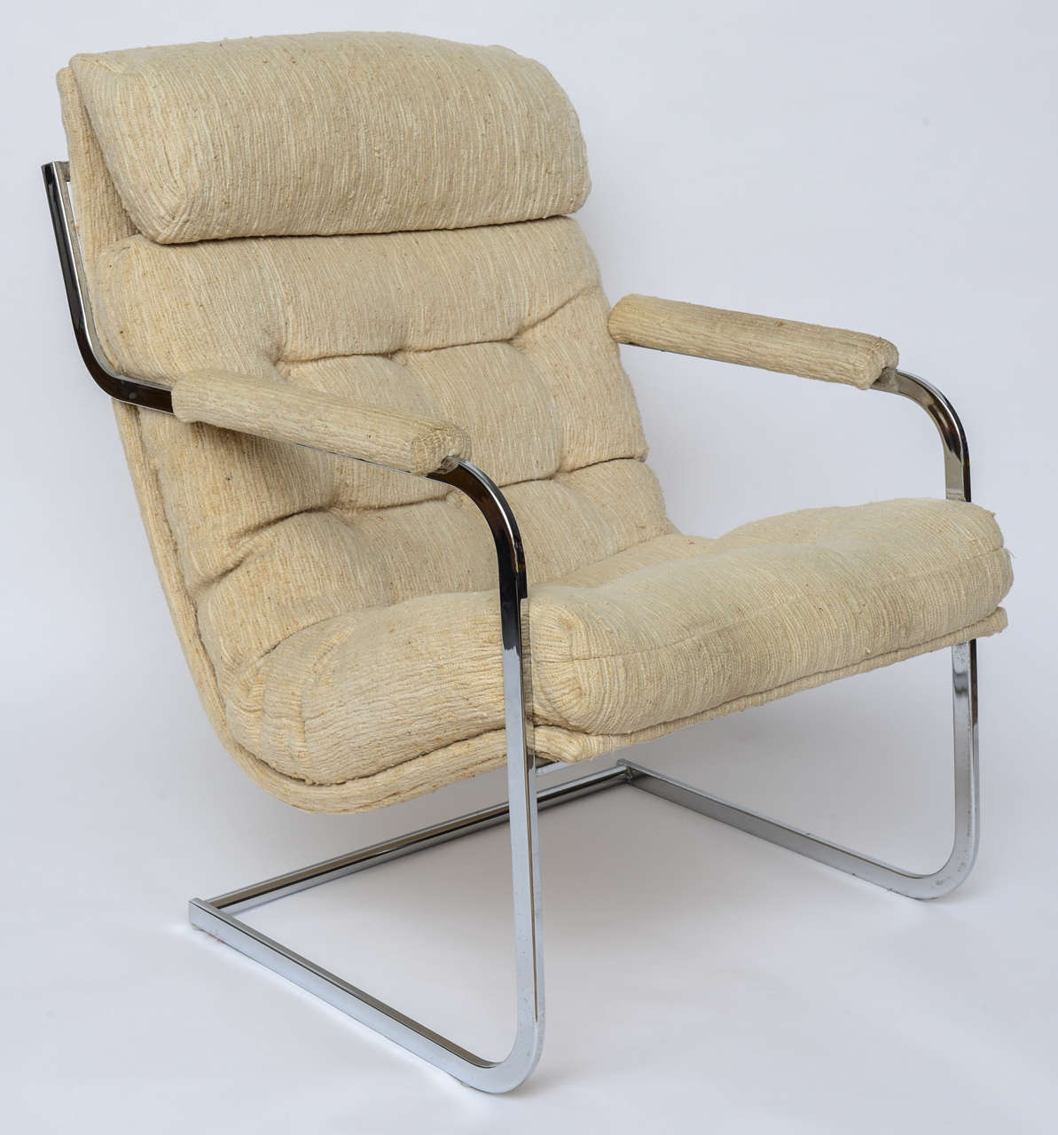 Milo baughman style cantilever lounge chair 1960s at 1stdibs for Sixties style chairs