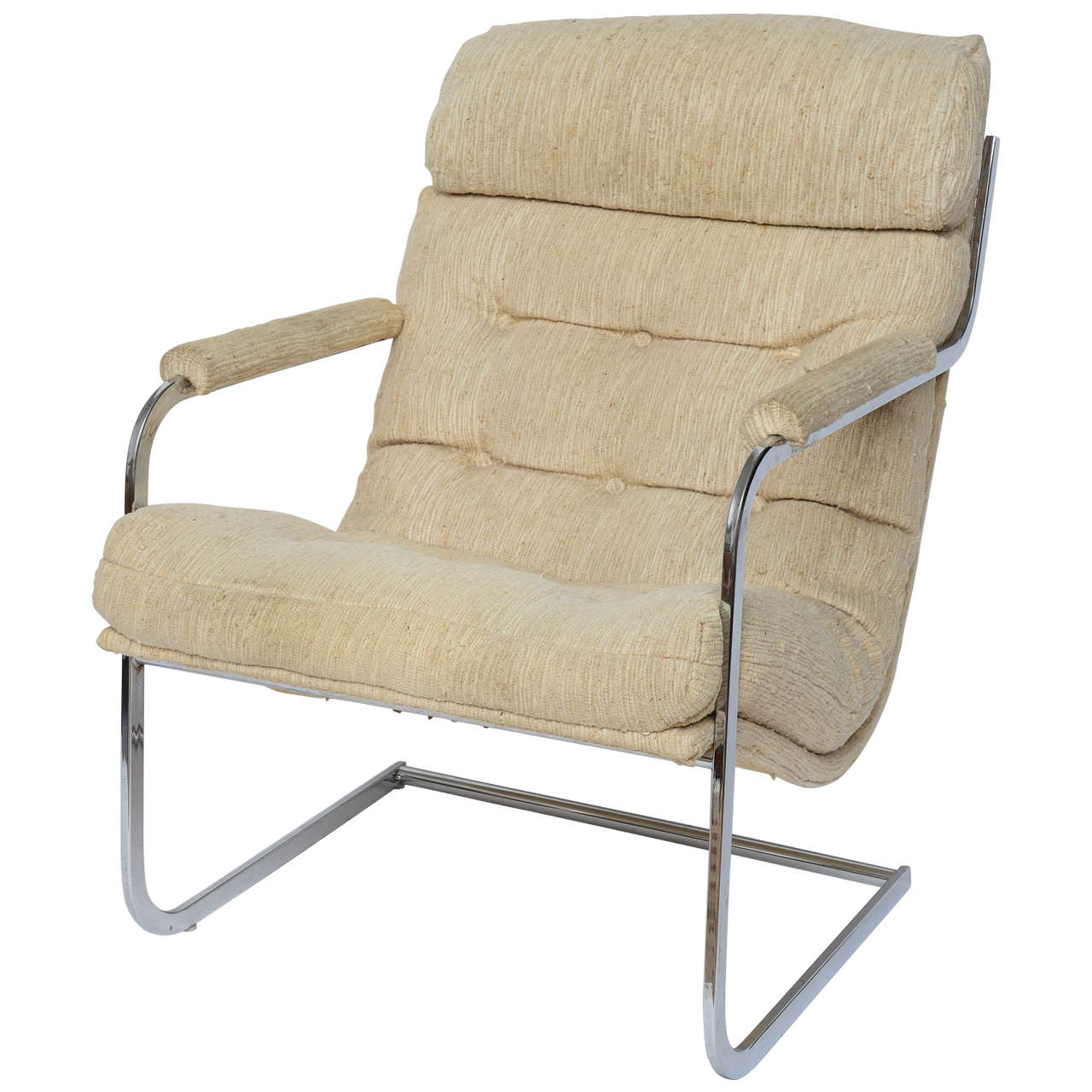 Oversized round swivel lounge chair mid century modern at 1stdibs - Mid Century Modern Lounge Chair And Ottoman Milo Baughman Style Cantilever Lounge Chair 1960s
