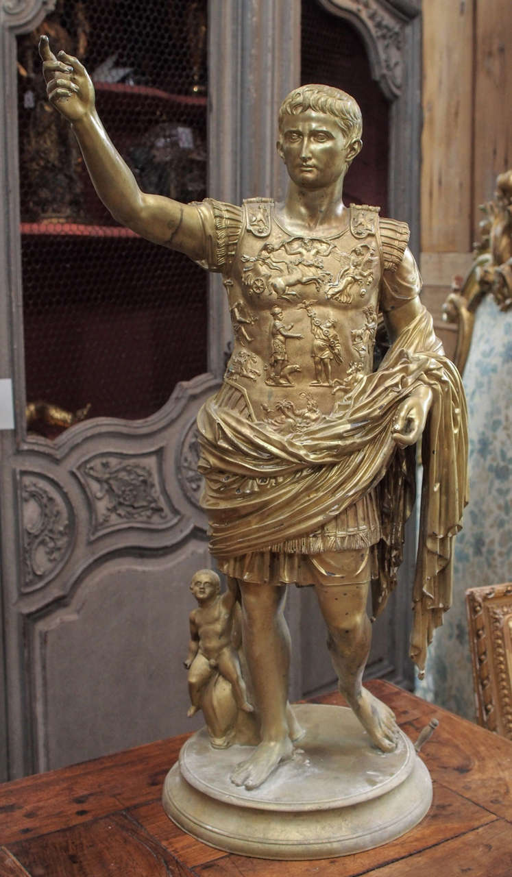Beautifully Chased Bronze Figure of Caesar.