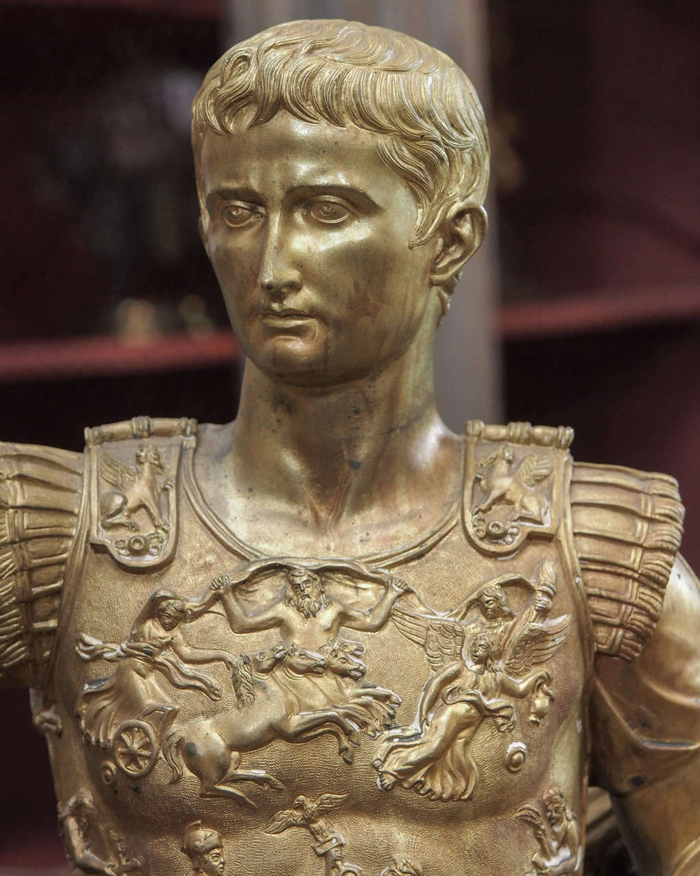 French 19th Century Bronze Statue of Caesar For Sale