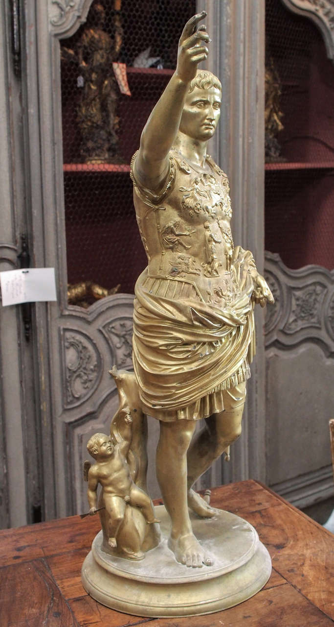 19th Century Bronze Statue of Caesar For Sale 4