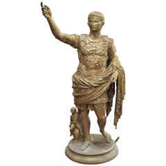 19th Century Bronze Statue of Caesar