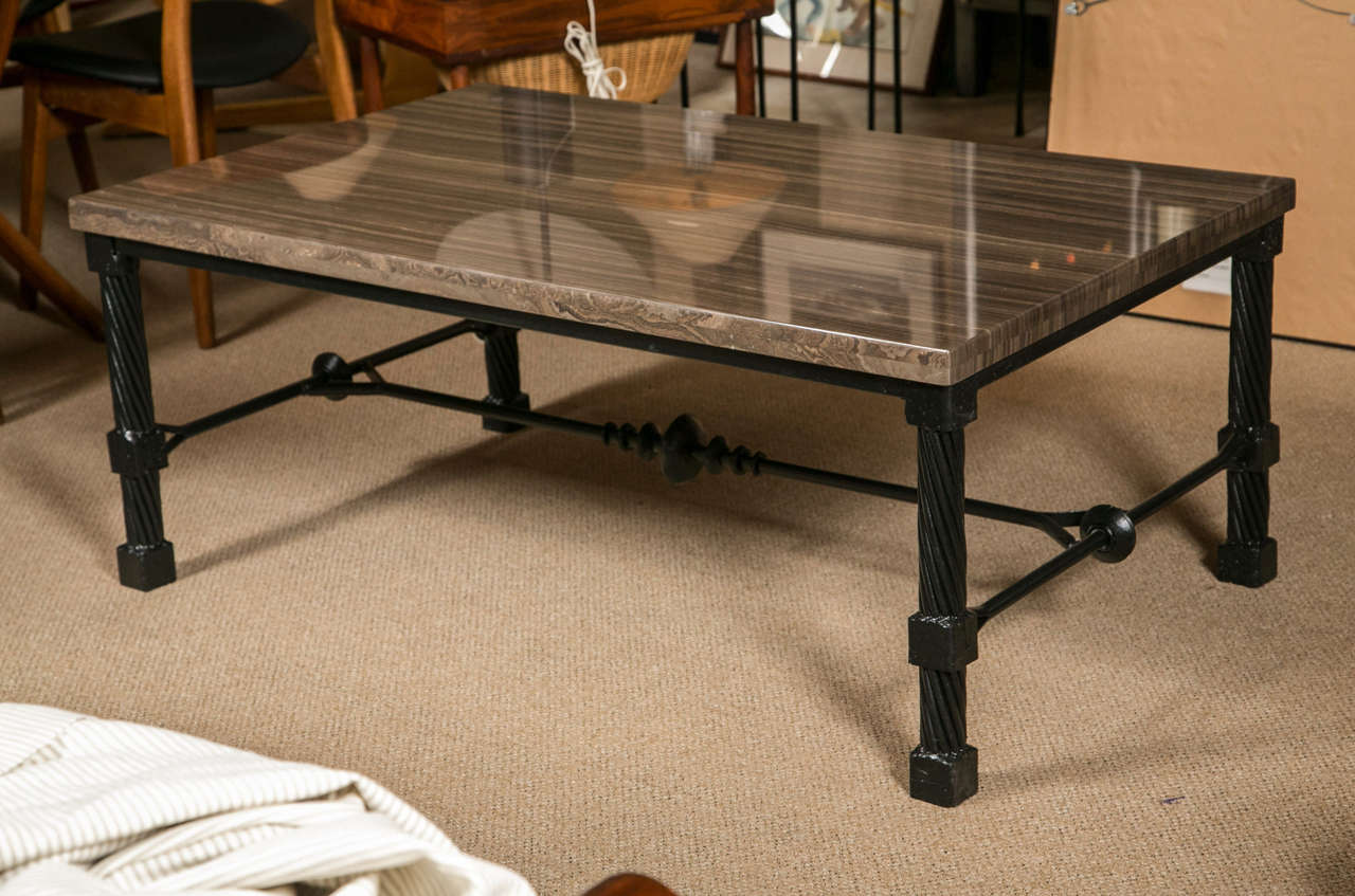 Wrought iron coffee table for sale at 1stdibs Wrought iron coffee tables