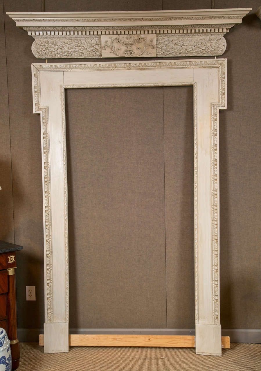 pair of door surrounds and pediments for sale at 1stdibs