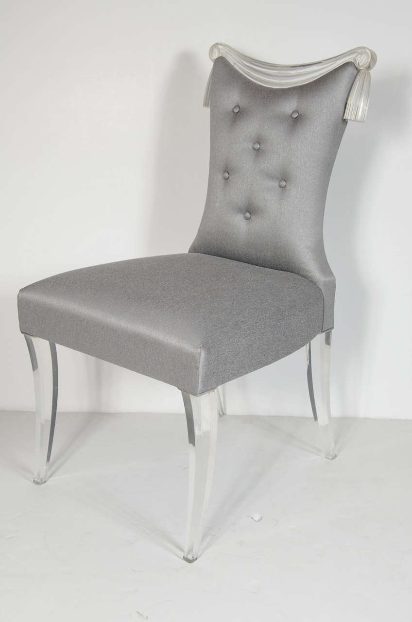 Elegant Hollywood Regency Occasional Chair by Grosfeld House at 1stdibs
